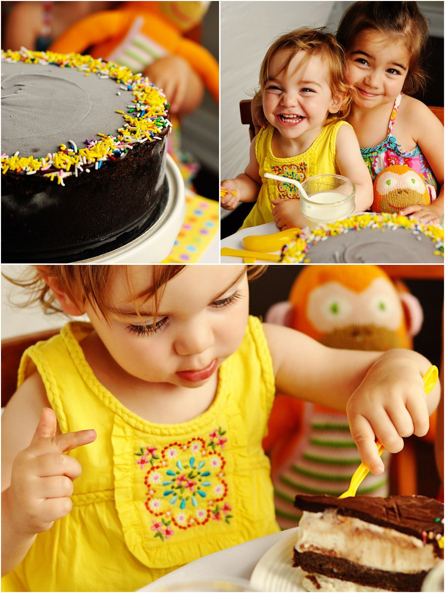 Double Choco and Banana Ice cream cake. But also because I love the photo of the sisters and their monkey, Clementine, whose birthday they were celebrating with this cake :)