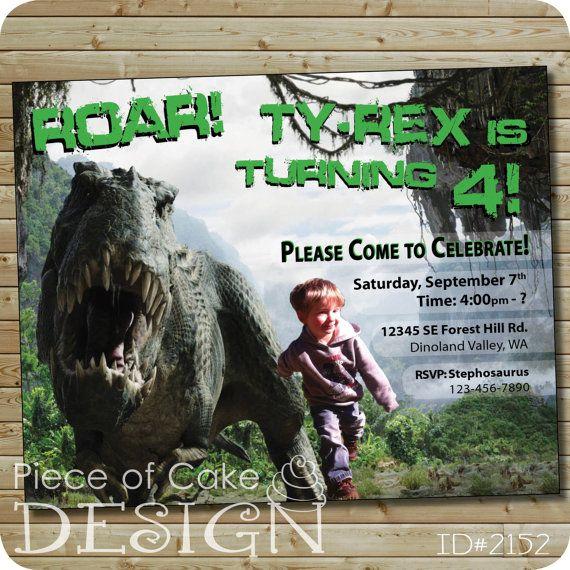Dinosaur Birthday Invitation TRex Roar By PieceOfCakeNW 1800 Party Invitations