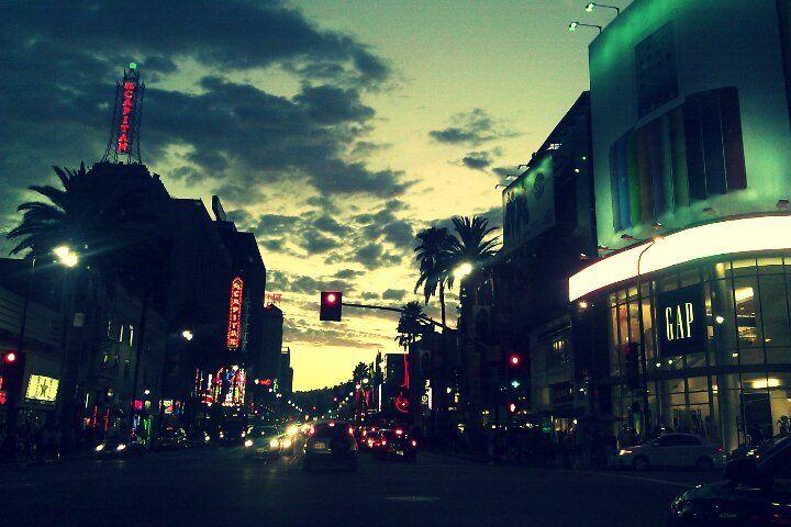 hollywood at night...