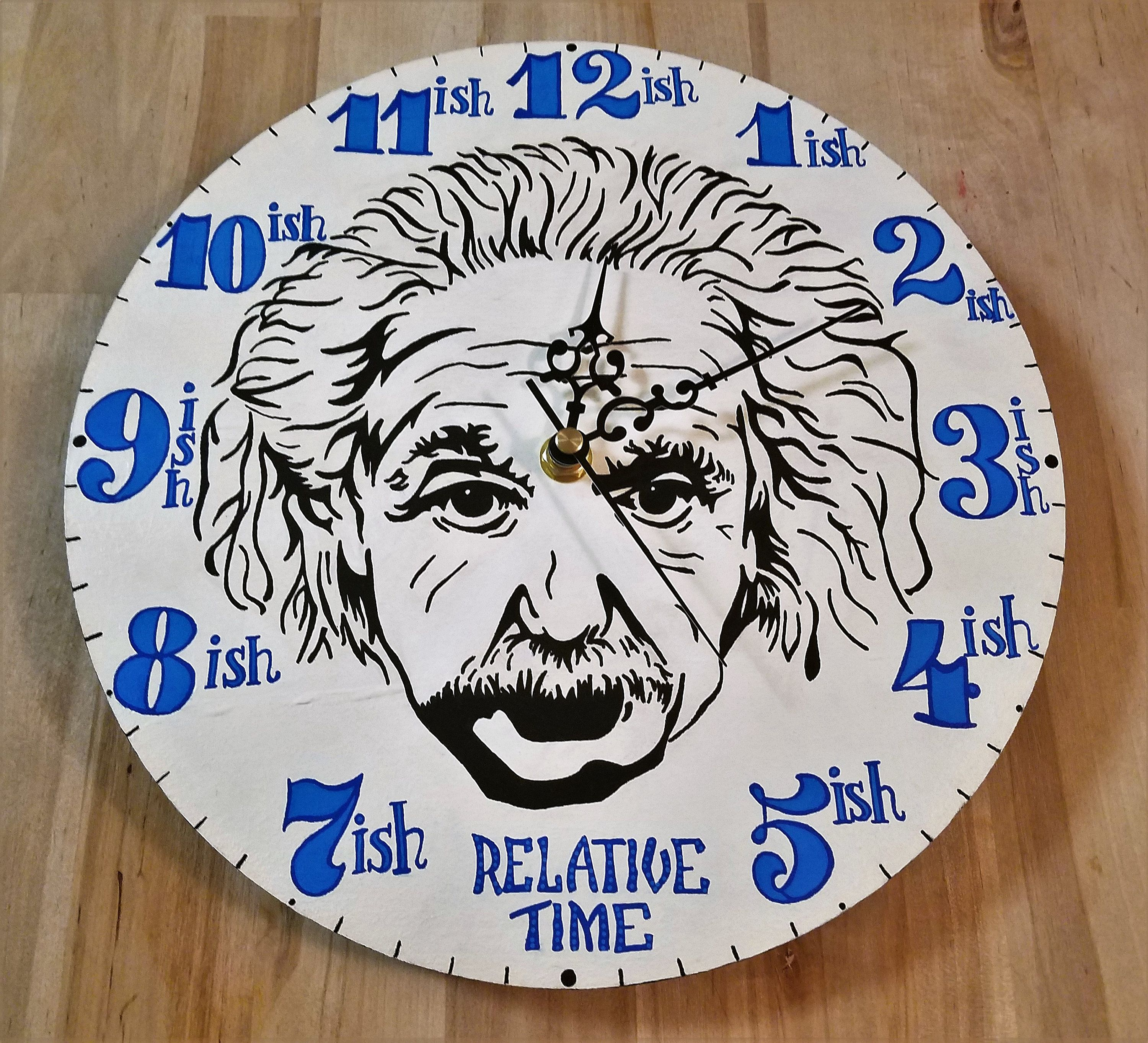 Relative Time Wall Clock By Andesignsshop On Etsy