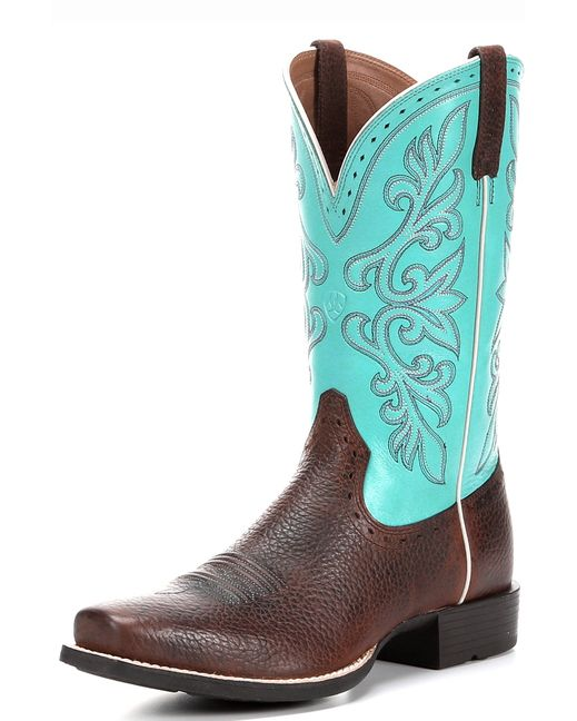 New women's silhouette! Narrow square toe on the horseman heel with a great stitch pattern.