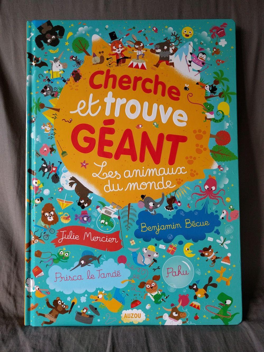 Cherche Et Trouve Geant Les Animaux Du Monde De Julie