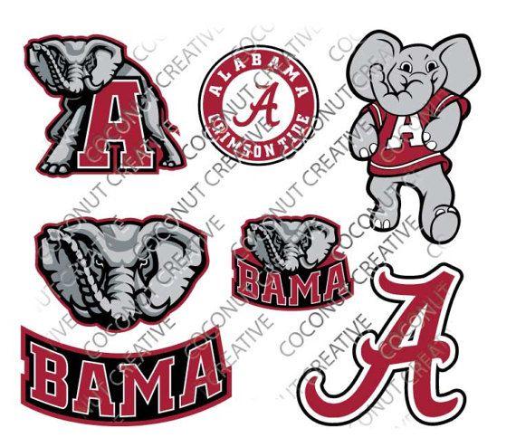 University of alabama crimson tide tuscaloosa logo svg dfx jpg jpeg eps layered cut cutting files cricut silhouette die cut decal vinyl