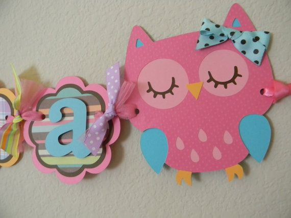 Owl Birthday Party Name Banner - @Katie Schmeltzer Schmeltzer Hart might need your cricut!
