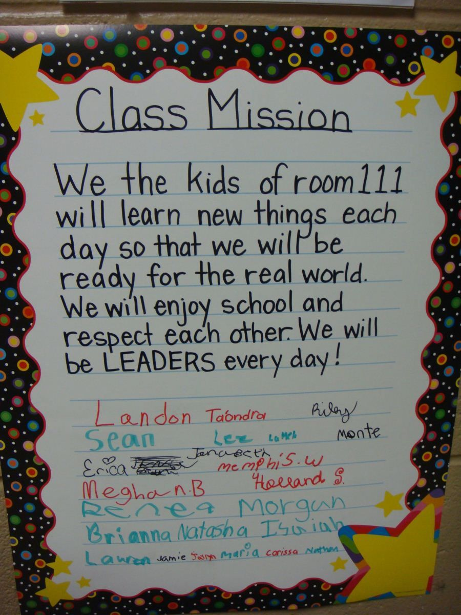 writing a mission statement for kids