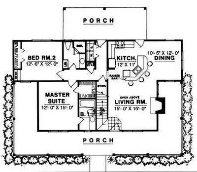 plan 7410rd: porches galore | smallest house, house and tiny houses