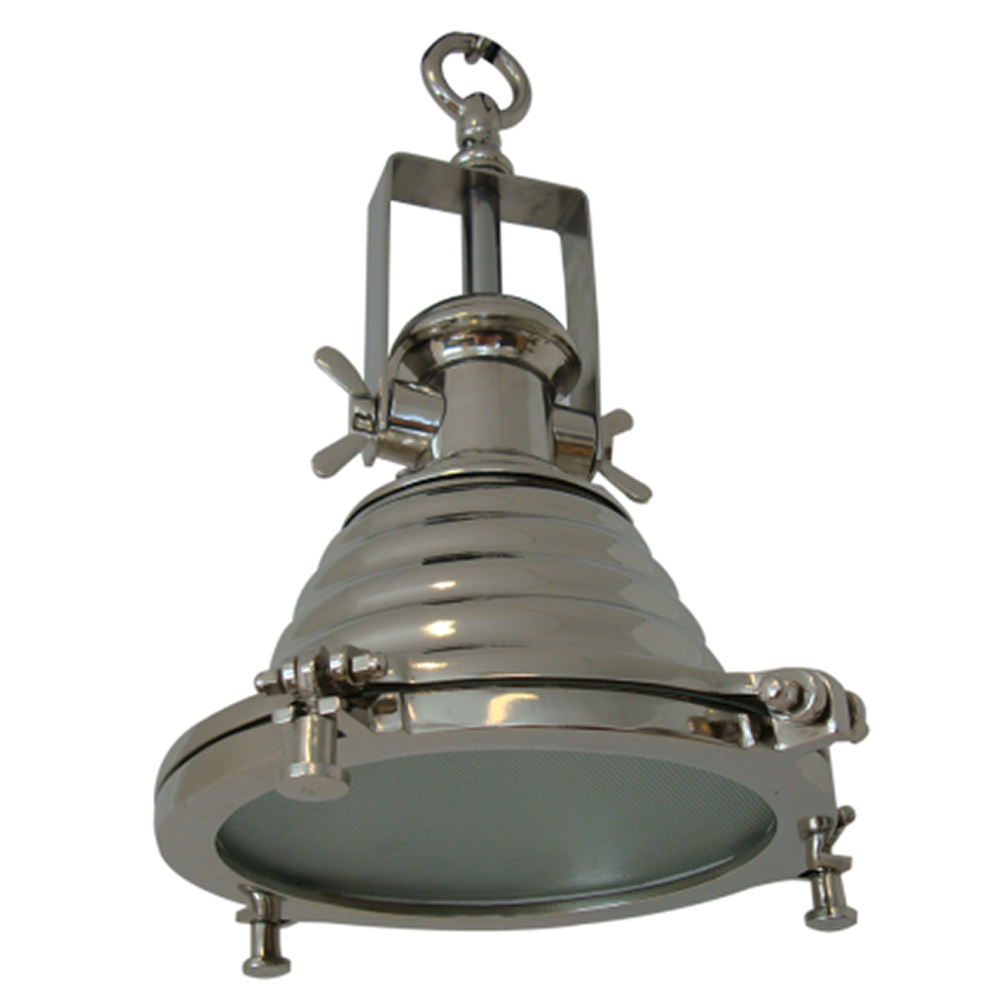 Nautical Kitchen Lighting Mariner Small Nautical Ceiling Pendant Light Nickel Condo