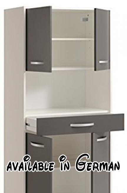 B00MOK8PJW  Standvitrine Optibox Küchenschrank weiss/ grau - küchenschrank hochglanz weiß
