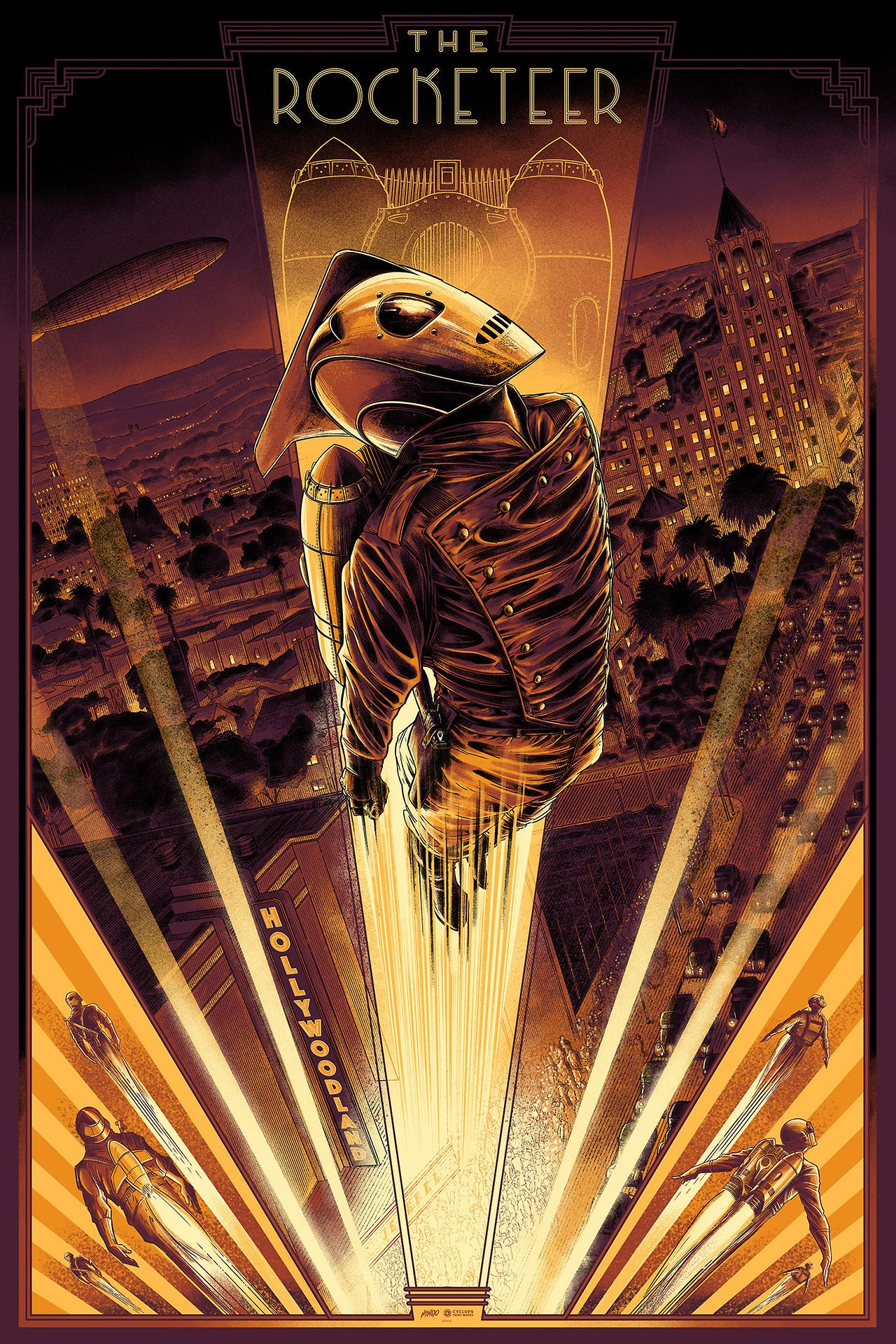 The RocketeerRocketeer by César Moreno Disney posters