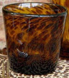 tourtoise  style drinking glass | Dose of Design: Love it! - Tortoise shell glassware
