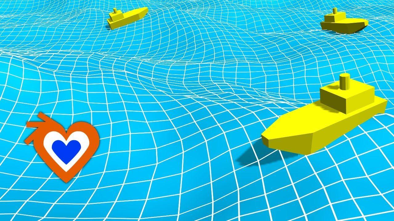 Blender 2.7 Ship floating on the ocean (tutorial