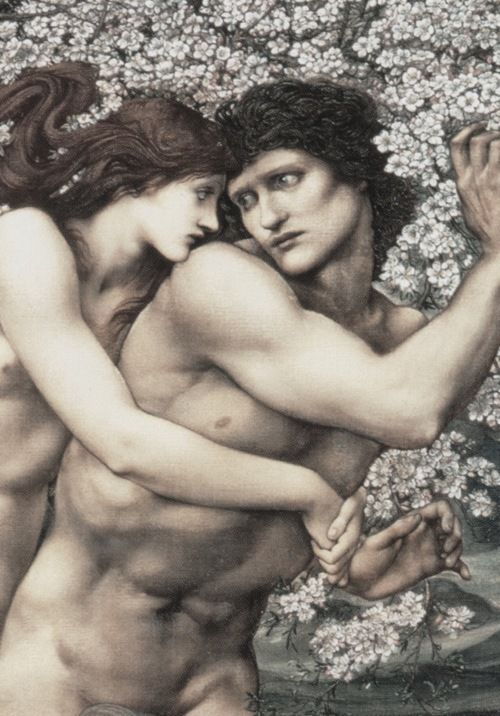 Edward Burne-Jones, The Tree of Forgiveness (Phyllis and Demophoön) (detail), 1882  Source: funeral-wreaths