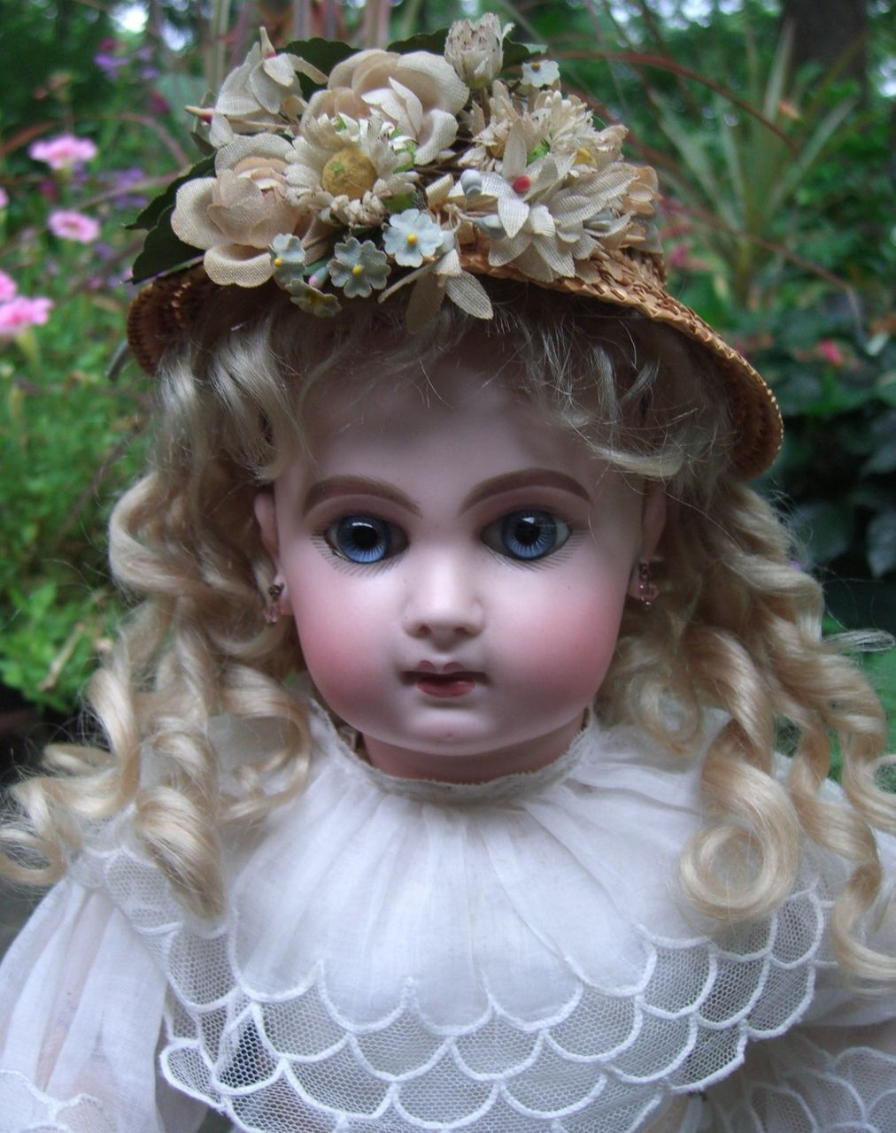 """18"""" EJ Antique Doll - Original Wig, Working Crier Strings  & Marked Jumeau Shoes - Layaway"""