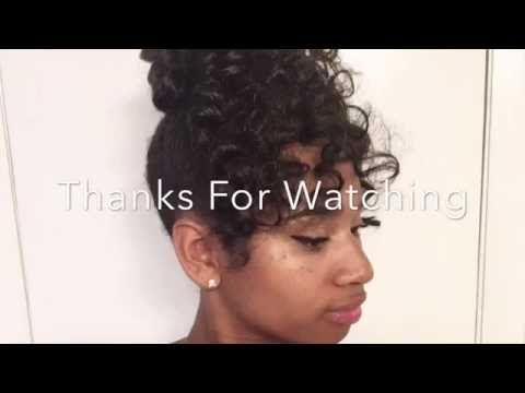 Curly Bun With Bangs Using Kanekalon Hair You