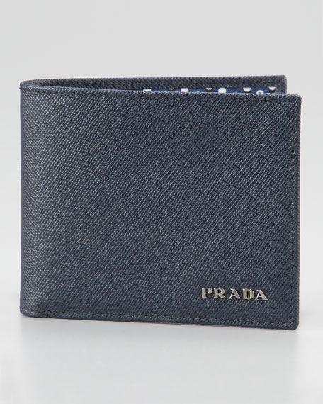 a9a52831e4 Prada Saffiano Bifold Wallet, Blue #pradawalletmen   Wallets in 2019 ...