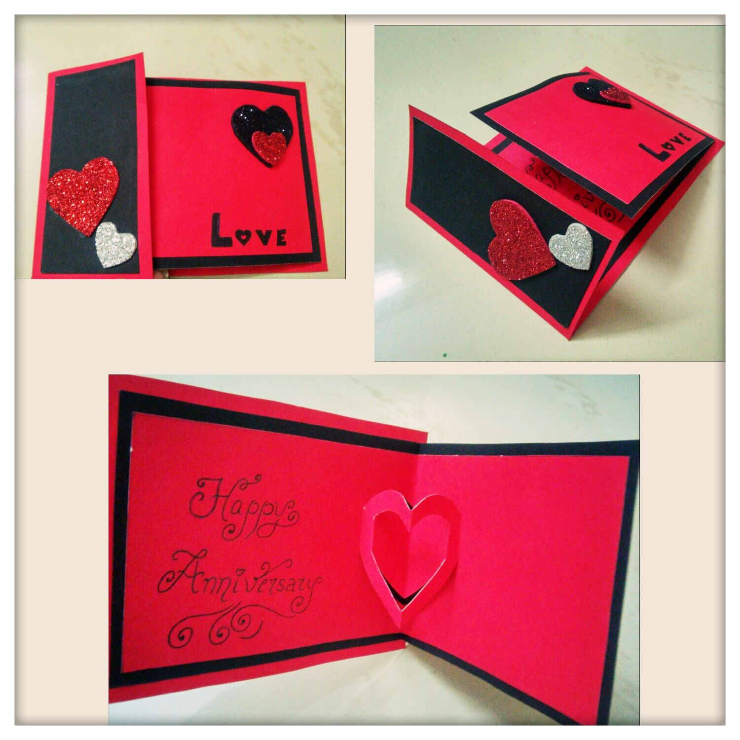 Howto Make #Handmade #Popup #Heart #Greeting #Card #DIY #Cards