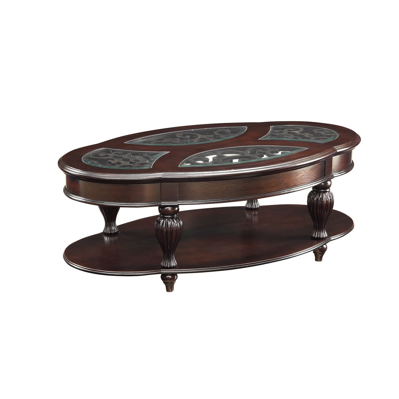 Coaster pany Cherry Wood Coffee Table Dark Cherry Brown
