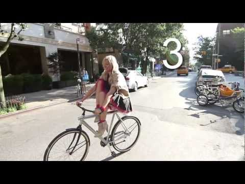 How to wear a short skirt and ride a bike
