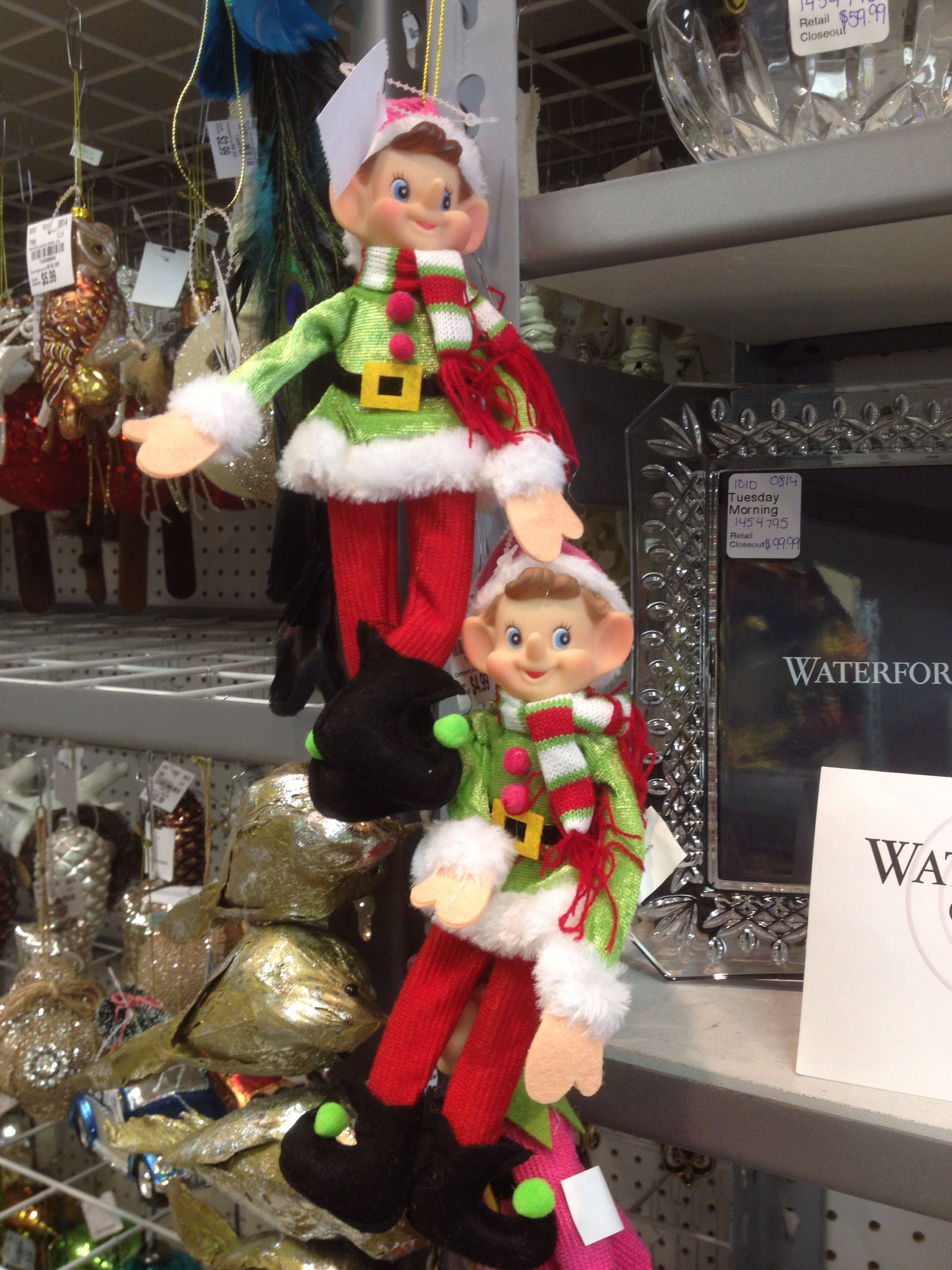 Cute elf on the shelf for sale at Tuesday Morning for $4.99!   Elf ...