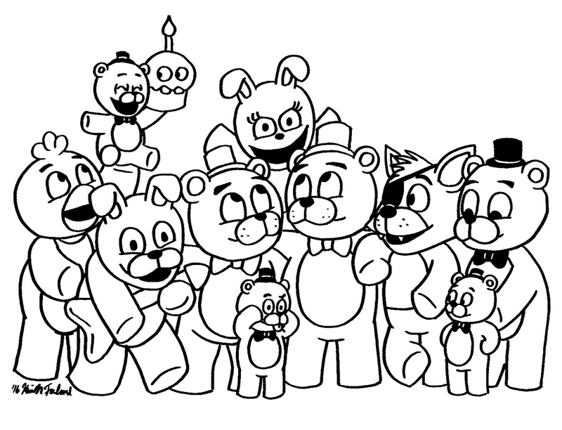 Playful image throughout fnaf printable coloring pages