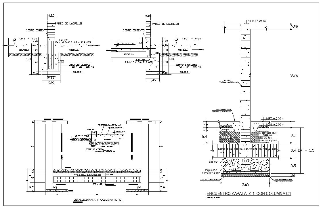 Pin On Concrete Details In Autocad Drawing