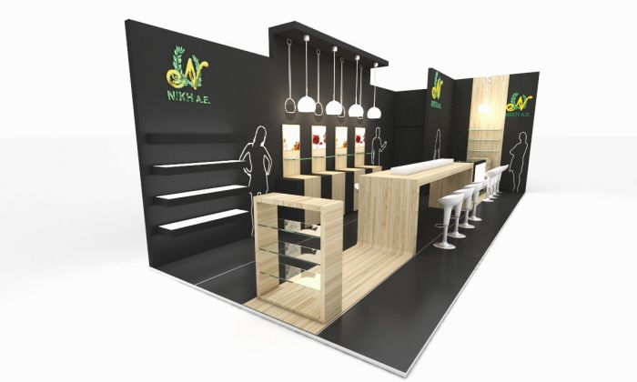 Exhibit design by andreas ref at stand design design maquette ve exposition for Stand expo deco