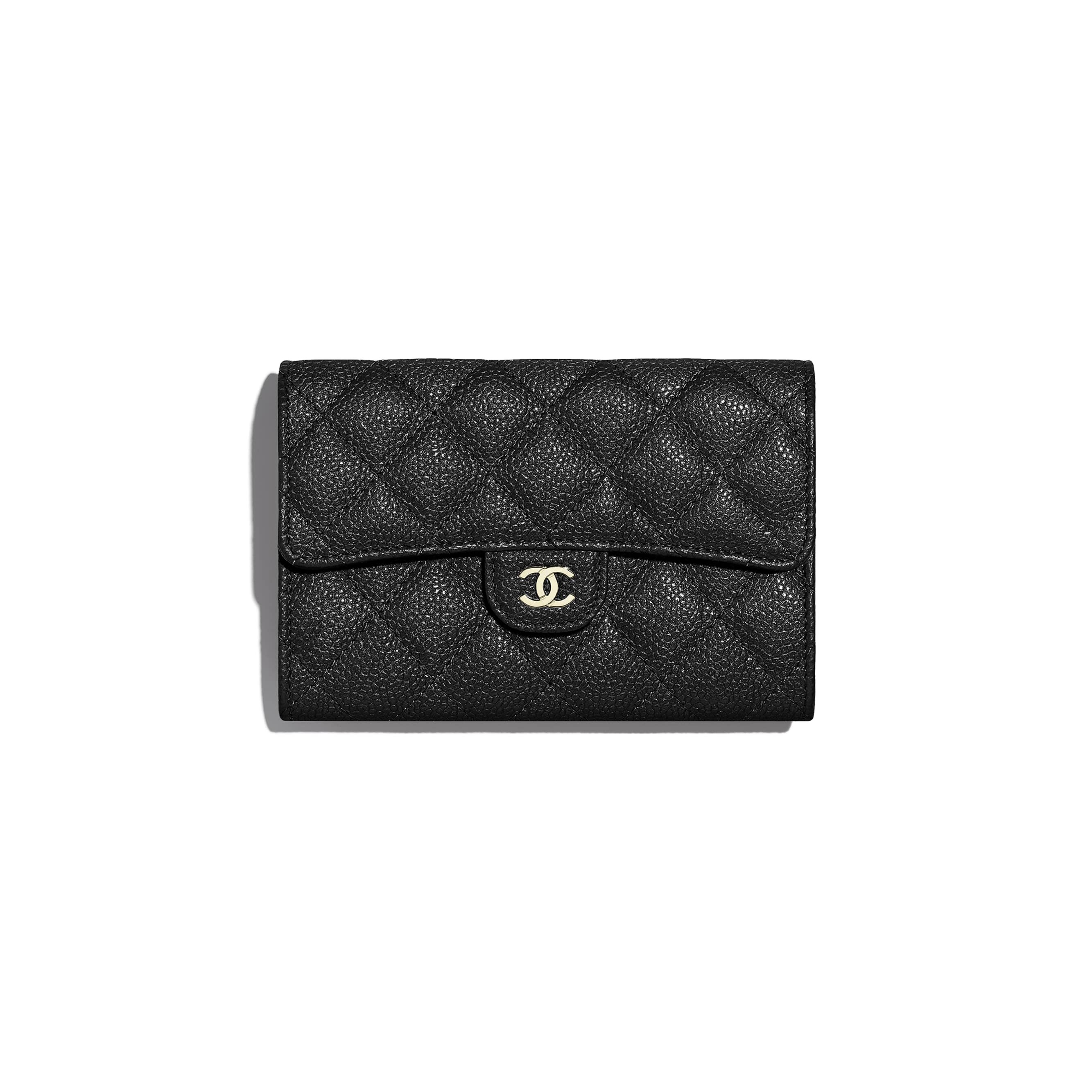 35d40c3380f179 Grained Calfskin & Gold-Tone Metal Classic Small Flap Wallet | CHANEL