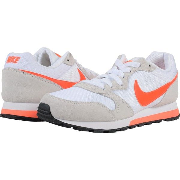 Nike MD Runner 2 (White/Total Crimson/Laser Orange/Phantom) Women's