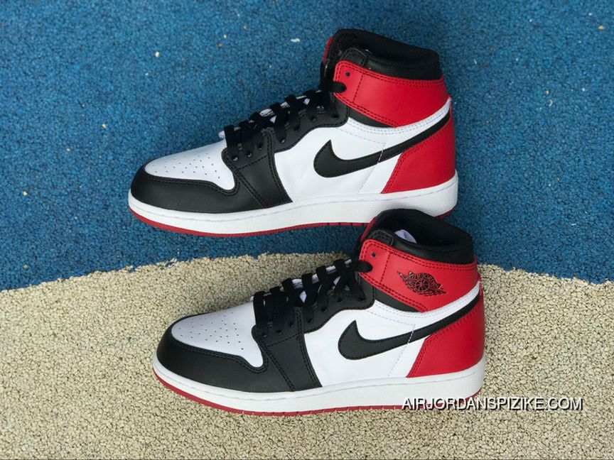 e846572f06ecda Pure Original Women Aj1 Black Toe FULL GRAIN LEATHER Air Jordan 1 High OG  Retro Black Aj1 Black Toe Gs Black White Toe Size 555088-125 Copuon