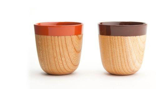 Good wood - 'Urishi' espresso and sake cups by Chanto