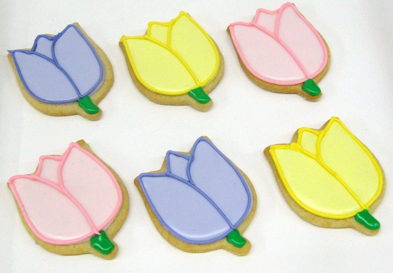 Tulip sugar cookies via etsy flower bouquet cookies