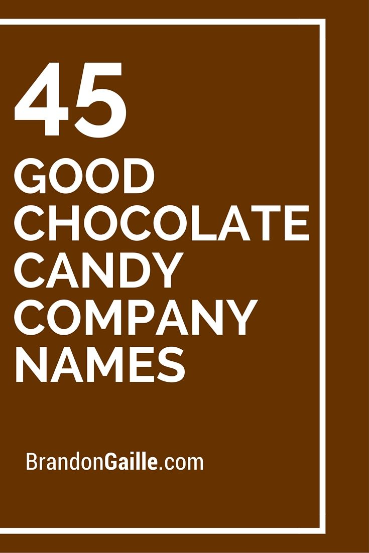 47 Good Chocolate Candy Company Names | More Candy companies and ...
