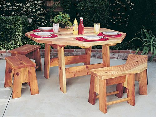 Fabulous Octagon Table Set At Menards Outdoors Octagon Table Pabps2019 Chair Design Images Pabps2019Com
