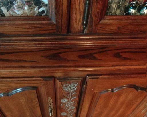 After Photo Wood China Cabinet Furniture Repair Refinish NJ