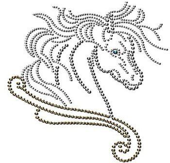 Hot Fix Rhinestone Templates Beautiful Horse Rhinestone Transfers Design Schablonen Stringart Basteln