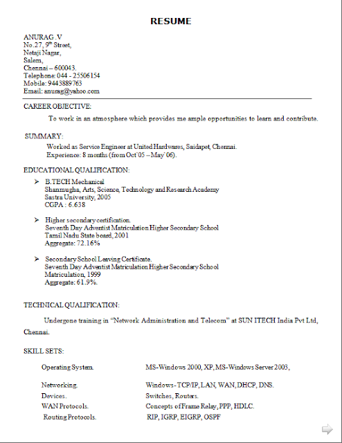 curriculum vitae para preencher free download sample