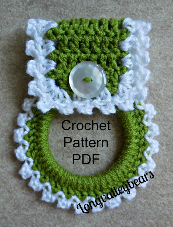 This Listing Is For The Pattern Only Instant Download Digital Pattern For Crocheted Towel Holder No Crochet Patterns Crochet Kitchen Towels Crochet Projects