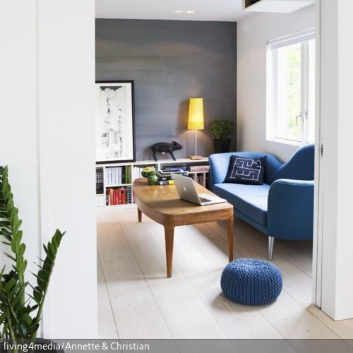 Blaue Möbel Verbreiten Im Wohnzimmer Ein Gemütliches Flair Blau   Wohnzimmer  Grau Blau