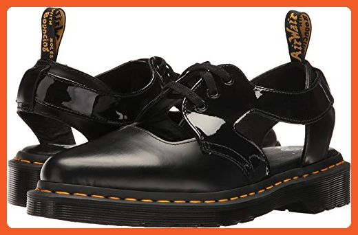 417187b138b09 Dr. Martens Women's Genna Patent Casual Oxfords, Black Leather, 7 M ...