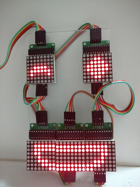 Controlling LED Matrix Array With Arduino Uno (Arduino