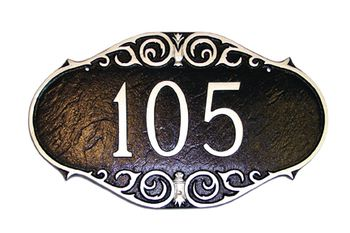 Victorian Style House Numbers Plaque Decorative Montague Metal