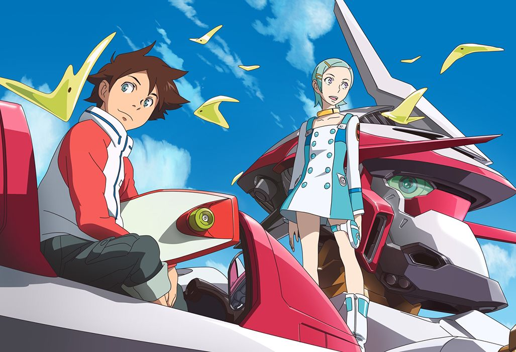 "Eureka Seven: Ao - dbtoon.com - Eureka Seven, known in Japan as Psalms of Planets Eureka Seven (Japanese: 交響詩篇エウレカセブン, Hepburn: Kōkyōshihen Eureka Sebun, lit. ""Symphonic Psalms Eureka Seven""), is a 2005 Japanese anime series created by Bones. The series was directed by Tomoki Kyoda, with series composition by Dai Satō and music by Naoki Satō. Eureka Seven tells the story of Renton Thurston and the outlaw group Gekkostate, his relationship with the enigmatic mecha pilot Eureka, and the…"
