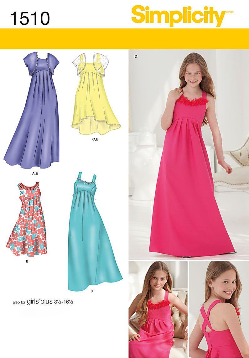 S1510 Girls '& Girls' Plus Special Occasion Dress-flower girl ...