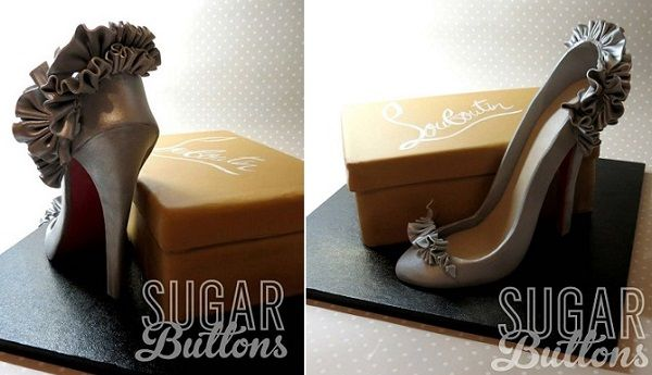 b6a694f68a5b gumpaste shoe and shoebox cake by Sugar Buttons