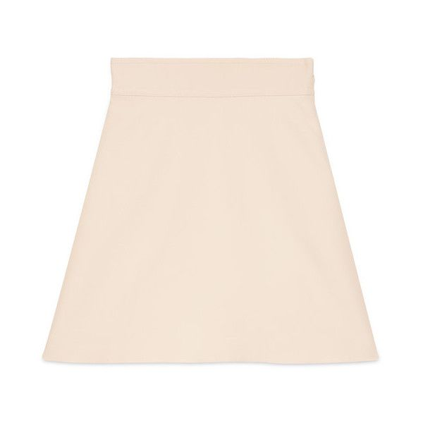 Gucci Wool Silk A-Line Skirt (12.514.335 VND) ❤ liked on Polyvore featuring skirts, ready to wear, women, pink skirt, woolen skirt, gucci, wool a line skirt and pink a line skirt