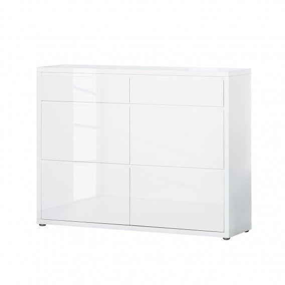 schuhkommode daytona ii hochglanz wei home24 m bel. Black Bedroom Furniture Sets. Home Design Ideas