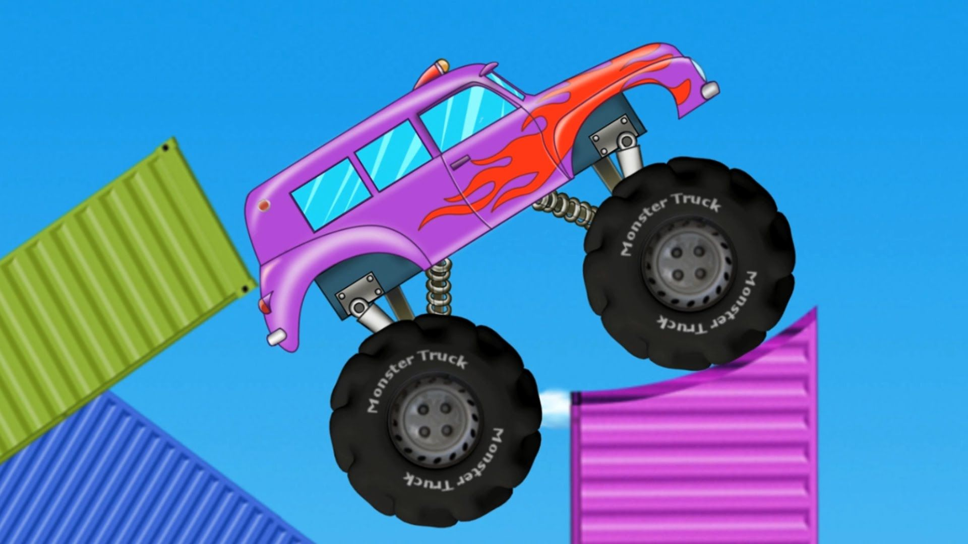 kids monster truck | stunts and actions | toy truck for kids & toddlers