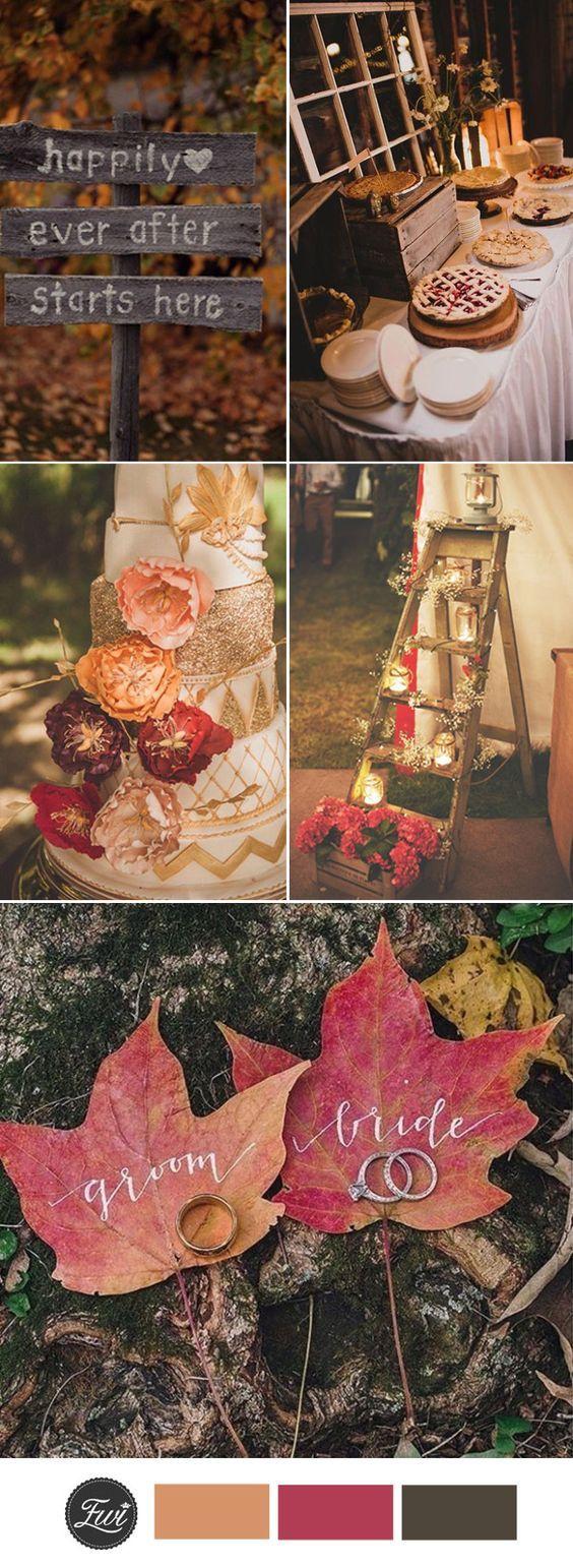 Fall outside wedding decoration ideas  Top  Fall Wedding Color Ideas for  Trends  Fall wedding Fall