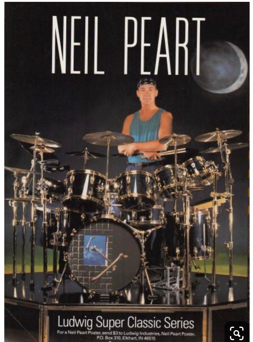 neil peart drums modern drummer