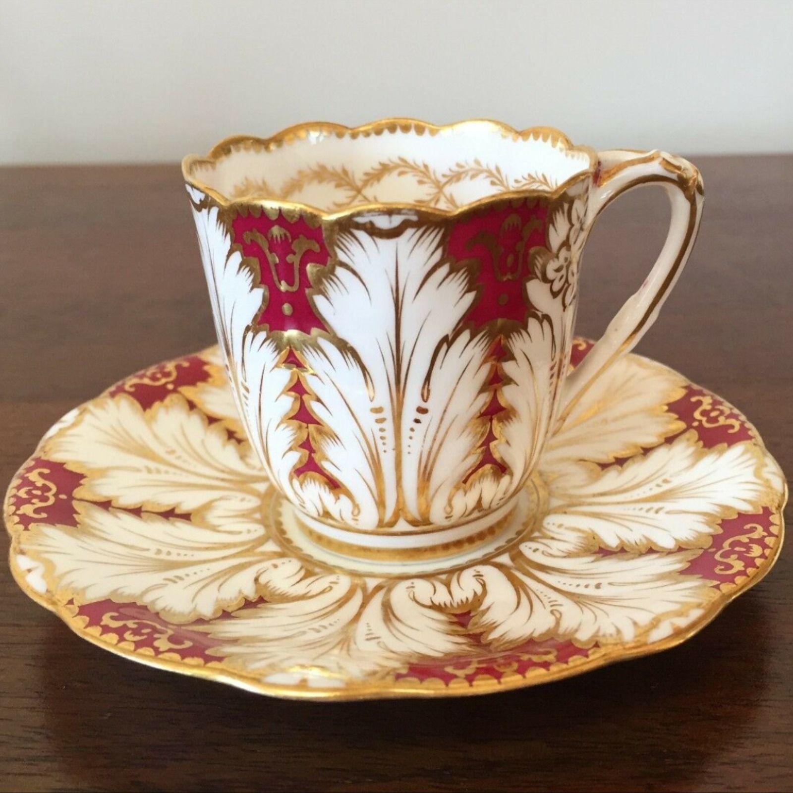 Details About Antique Brown Westhead Moore Cauldon Cranberry